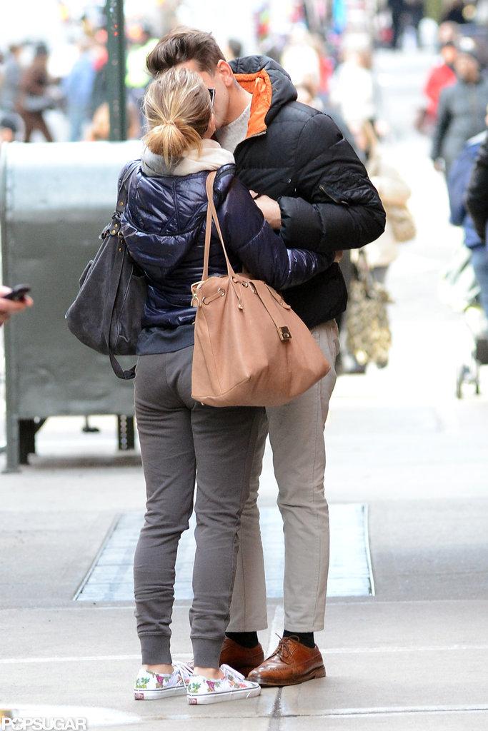 Scarlett Johansson and Romain Dauriac kissed in NYC.