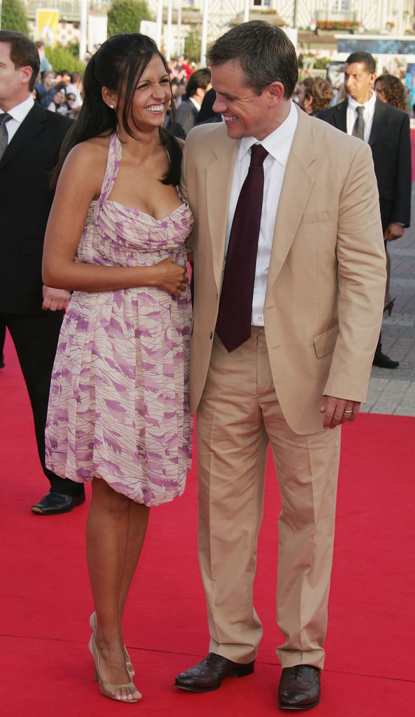 Matt and Luciana Damon laughed on the red carpet at the Deauville American Film Festival in September 2007.