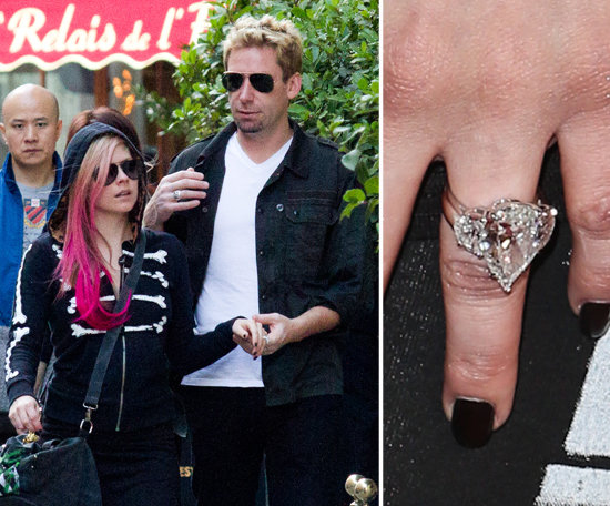 Chad Kroeger proposed to Avril Lavigne in August with a 14 ... Avril Lavigne And Chad Kroeger Engagement Ring