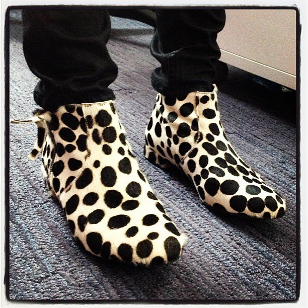 We snapped our intern Bry's pony-hair boots. How cute are they?
