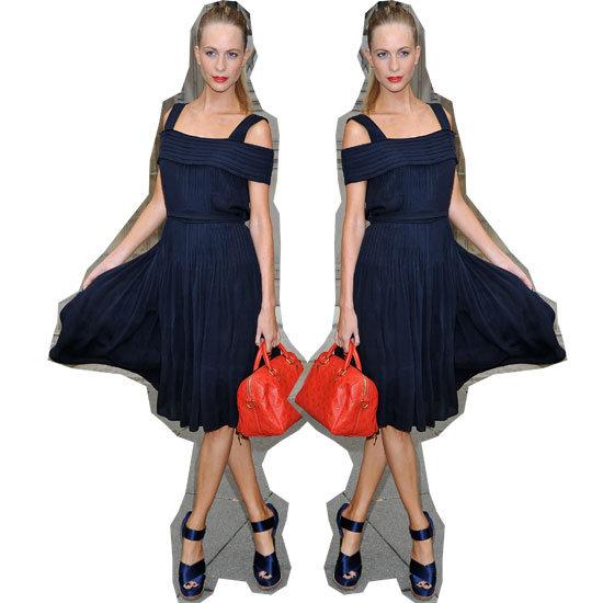 Trending: Get Poppy Delevingne's Classic Navy & Red Look Now