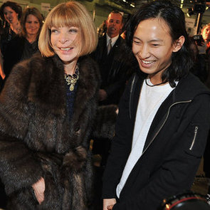 Anna Wintour, DVF on Alexander Wang at Balenciaga