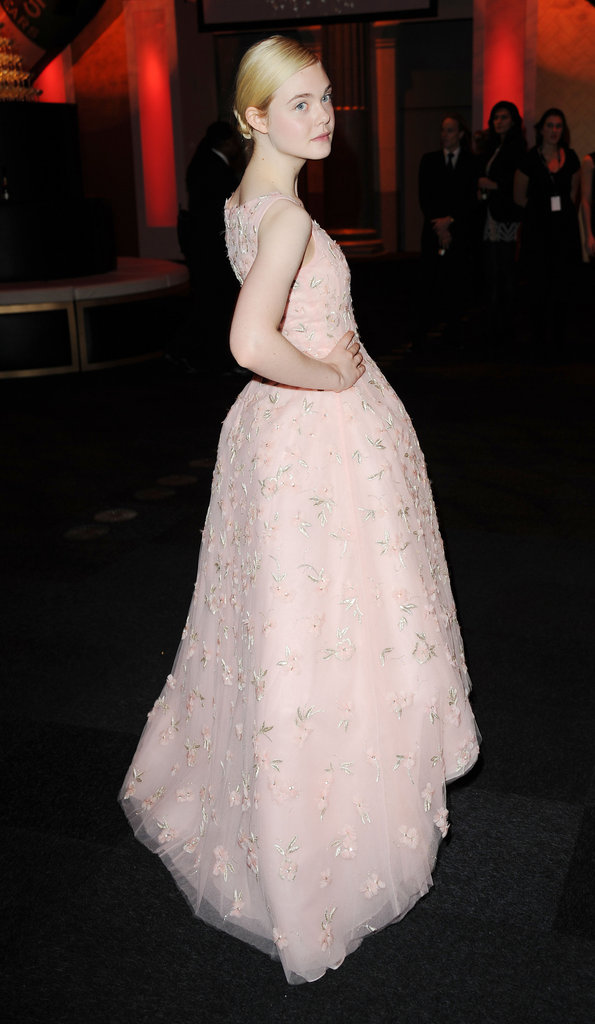 Elle Fanning posed at the BIFAs.
