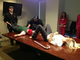 Chelsea Handler goofed off at the office with Chuy and a candy cane.  Source: Twitter User chelseahandler