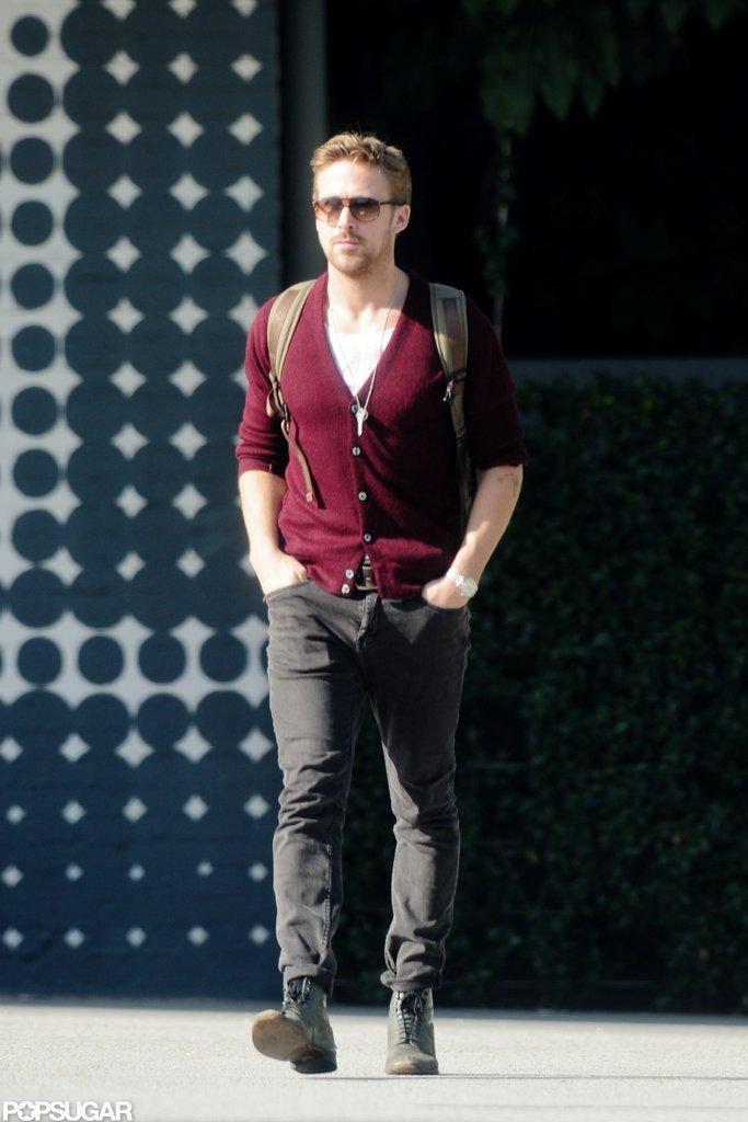 Ryan Gosling left a restaurant in LA after grabbing breakfast.