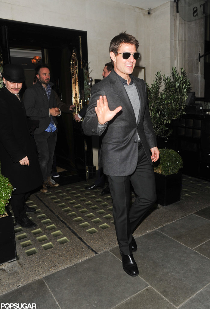 Tom Cruise Dines With Emily Blunt Before a Big Soccer Match