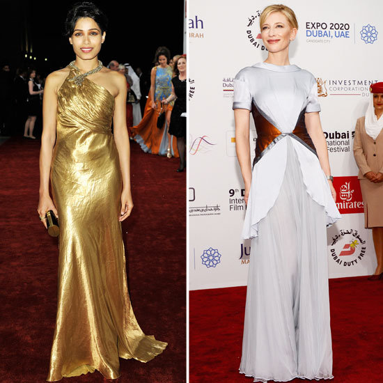 Freida Pinto and Cate Blanchett at Life of Pi Dubai Premiere