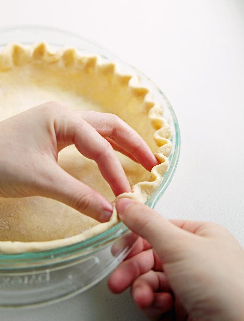 Crimping Pie Crust
