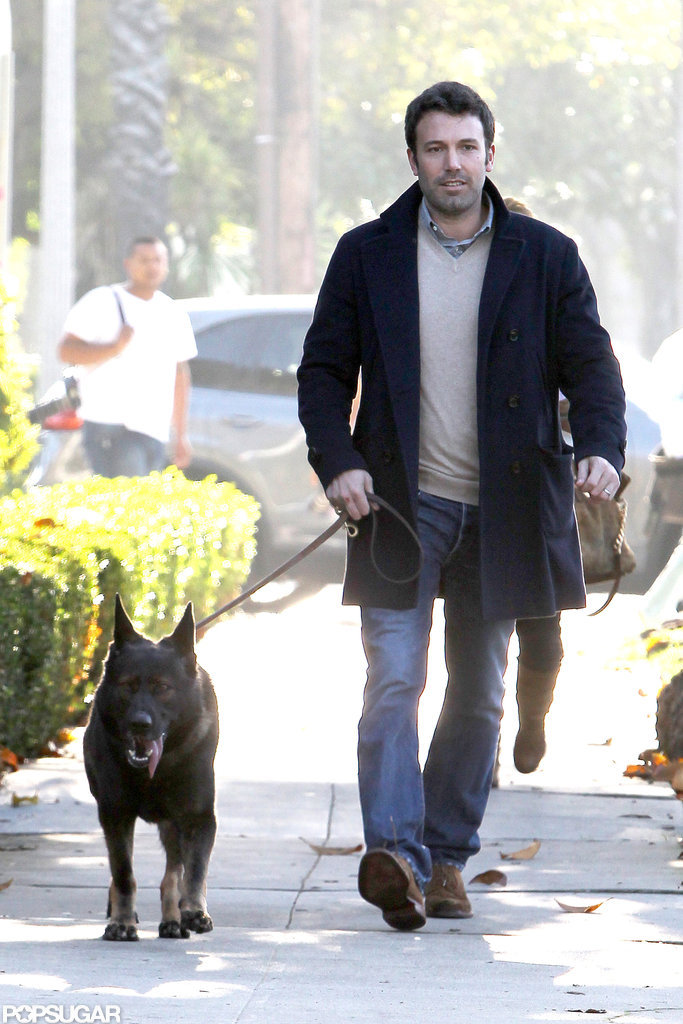 Ben Affleck walked their German Shepherd around LA.