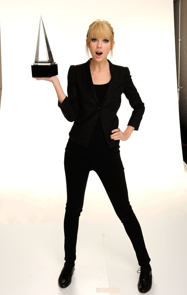 Taylor Swift posed for portraits at the American Music Awards in November 2010.