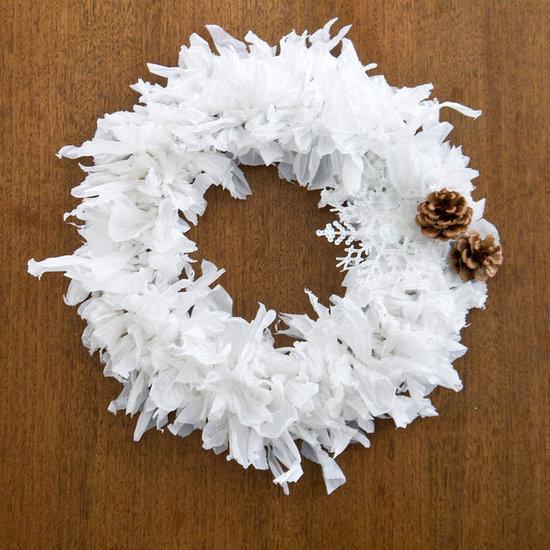 Plastic Bag Holiday Wreath
