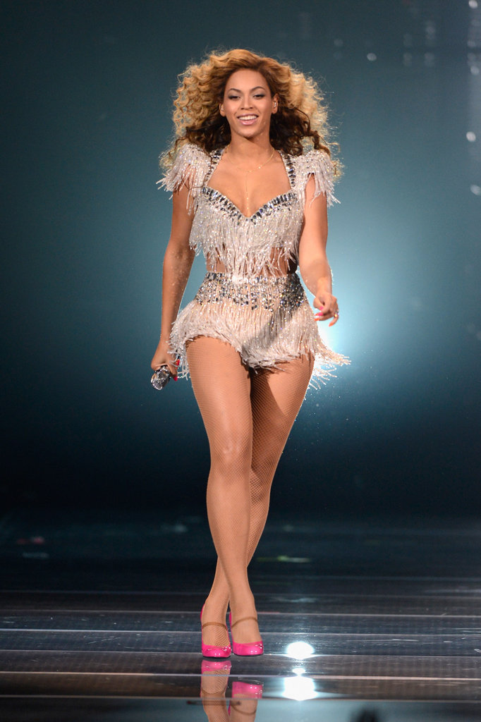 Beyoncé performed in Atlantic City this May in a one-of-a-kind minidress by Ralph & Russo.