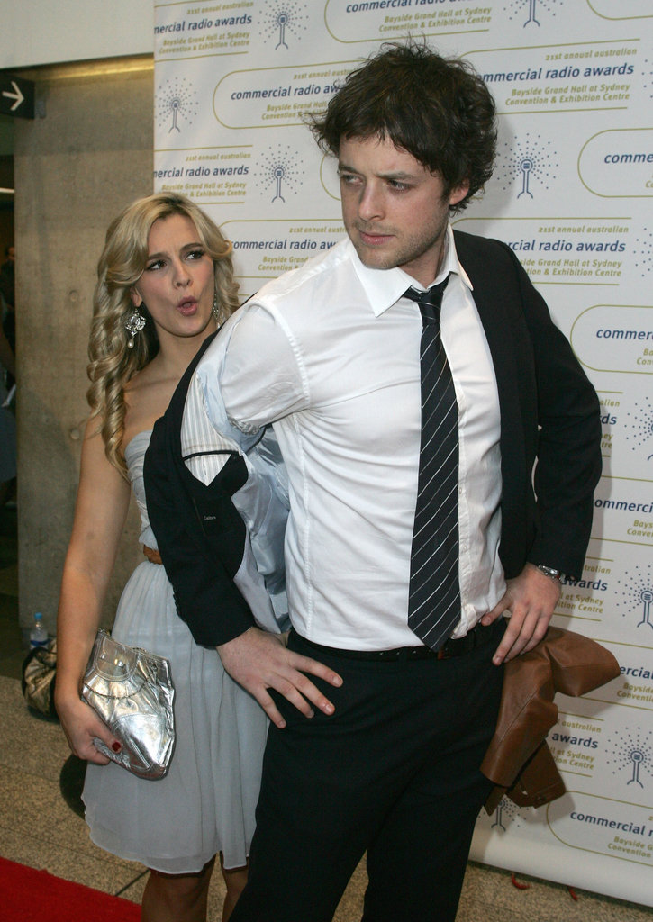 Hamish out-posed his then-girlfriend Anna Jennings-Evquest at the 2009 Australian Commercial Radio Awards in Sydney.