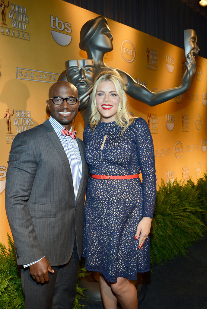 Taye Diggs and Busy Phillips attended the SAG Awards Nominations in LA.