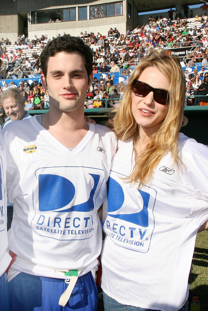 Blake Lively and Penn Badgley buddied up at DirecTV's third annual Celebrity Beach Bowl held in St. Petersburg, Florida, in January 2009.