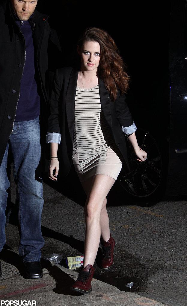 "Kristen Stewart Swings by The Daily Show to Talk ""Scary"" Dance Scene"