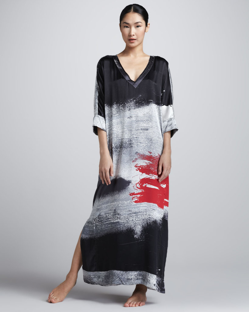 Simply throw this Donna Karan silk caftan ($298) over your bikini for a luxe postswim look, or cinch the waist in with a skinny belt and finish with strappy sandals for an effortless evening ensemble.