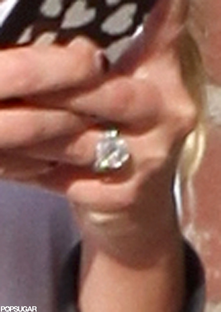 CaCee Cobb showed off her new wedding band.
