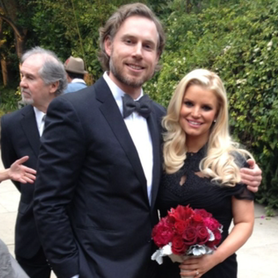 Jessica Simpson as Maid of Honor at CaCee Cobb's Wedding