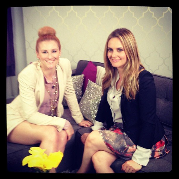 Alicia Silverstone stopped by to chat about her earth-friendly beauty products in April.