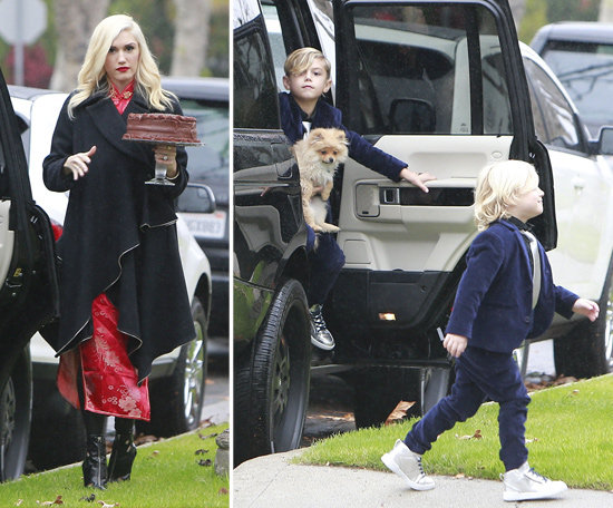 Gwen Stefani and Her Family Make a Sweet Delivery to a Friend