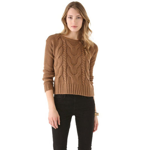 BB Dakota's David cable-knit sweater ($59, originally $84) will quickly become your cozy Winter basic.