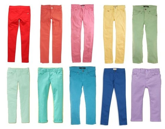 Clothing Trend: Colored Denim For Kids
