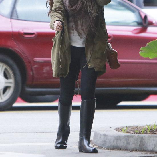 Selena Gomez Wearing Black Rain Boots