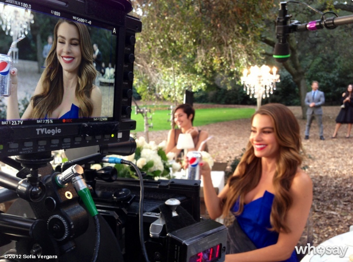 Sofia Vergara filmed a Pepsi commercial. Source: Sofia Vergara on WhoSay