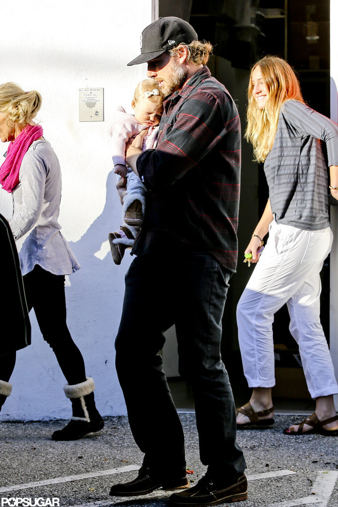 Eric Johnson took daughter Maxwell out shopping in Beverly Hills.
