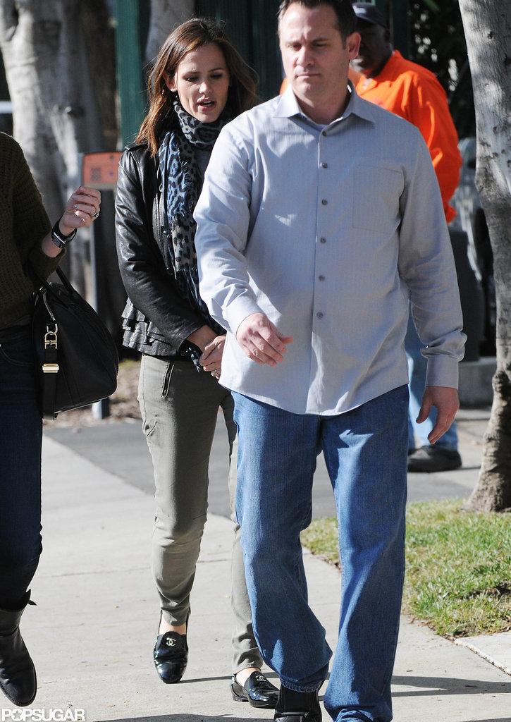 Jennifer Garner arrived at an LA studio.