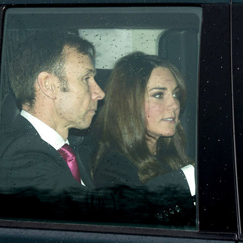 Pregnant Kate Middleton Attends Royal Pre-Christmas Lunch