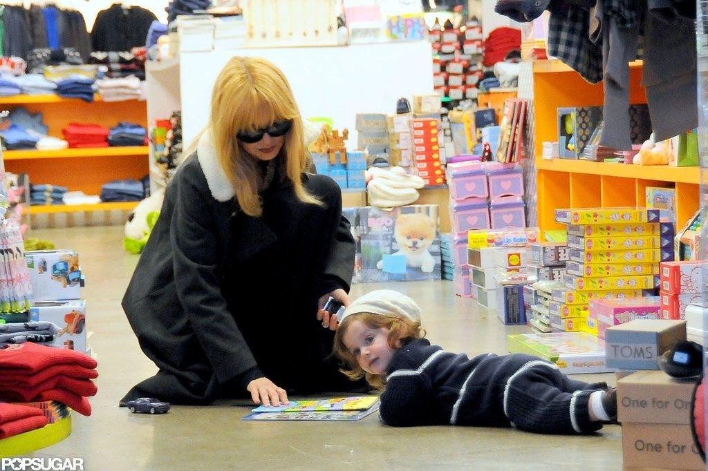 Rachel Zoe played with her son Skyler Berman.