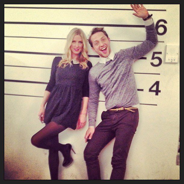 Nicky Hilton took mugshots with Derek Blasberg. Source: Twitter user NickyHilton