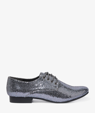 These Forever 21 Glittered Lace-Up Oxfords ($25) aren't just cute and comfy — but a steal for any NYE soiree.