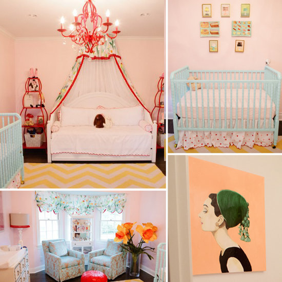 An Eclectic, Sweet Nursery For a Baby Girl