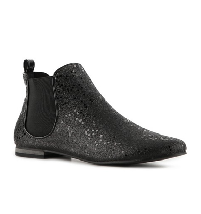 C Label's Rae booties ($30) have just the right amount of sparkle — we'd wear them with a miniskirt and slouchy sweatshirt for a fun and festive look.