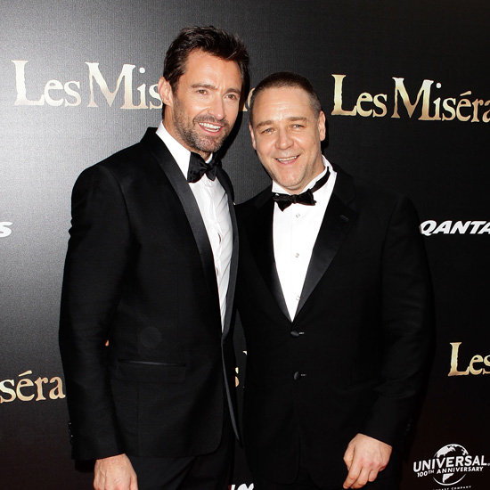 Hugh Jackman and Russell Crowe at Les Miserables Sydney