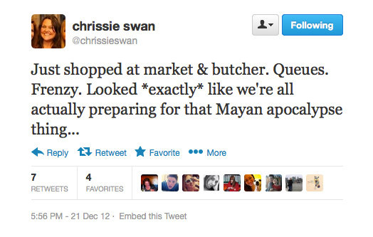 Nothing gets people crazy like a Christmas rush, right Chrissie?