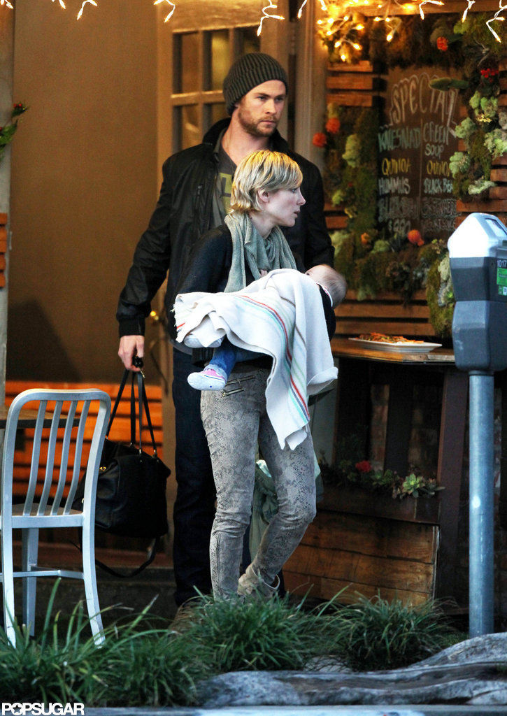 Chris Hemsworth Lunches in LA With His Ladies, Elsa and India