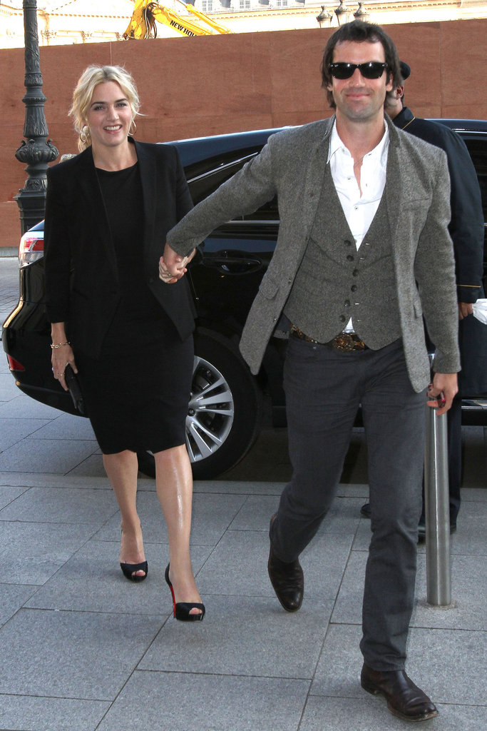 Kate Winslet had Ned Rocknroll by her side in Paris in February 2012.