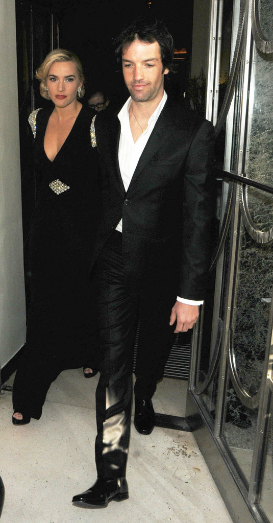 Kate Winslet and Ned Rocknroll left a screening of Titanic in London in March 2012.