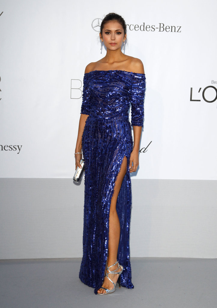 A standout moment in glittering Elie Saab at the 2012 amfAR gala in Cannes.