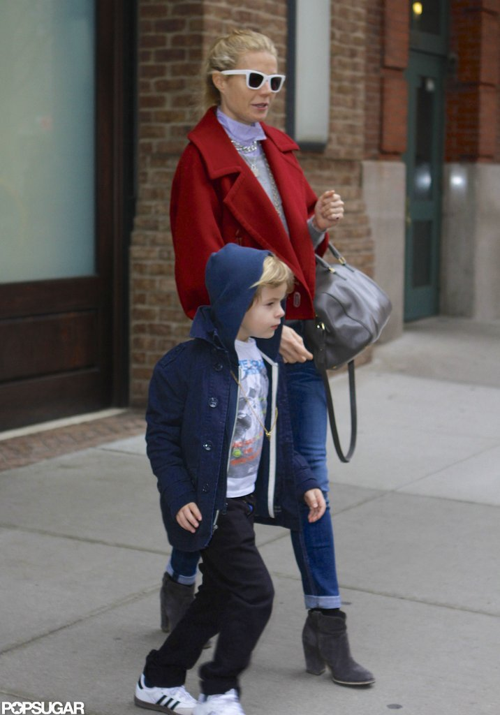 Gwyneth Paltrow and Moses Martin stepped out in NYC.