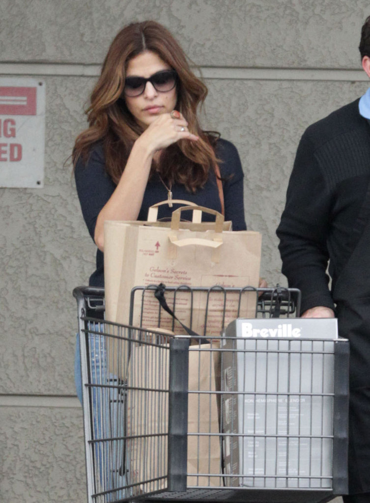 Eva Mendes bought a blender before New Year's Eve.