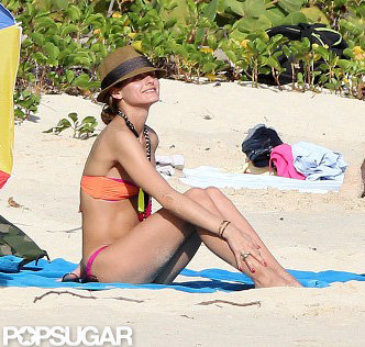 Olivia Palermo wore a necklace with her bikini.