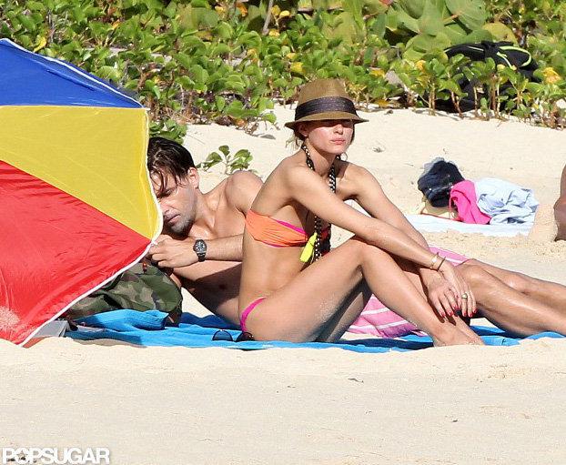 Olivia Palermo wore a bikini and a fedora.
