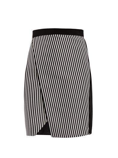 This Sportmax striped wrap skirt ($341) is the epitome of chic. Imagine it with a crisp white button-down and a sharp black blazer — amazing!