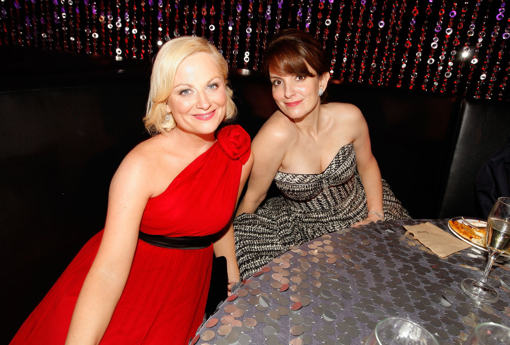 Amy and Tina sat together at a Golden Globes after party in 2010.