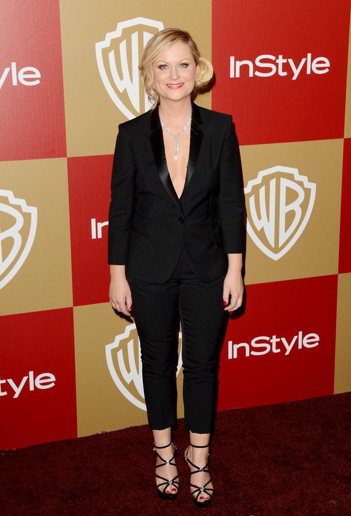Golden Globes host Amy Poehler arrived.